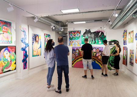 Opening of the exhibition 'Welcome to the circus!' at La U mutante' in Spain