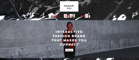 Manami: Interactive fashion brand that makes you connect graphic