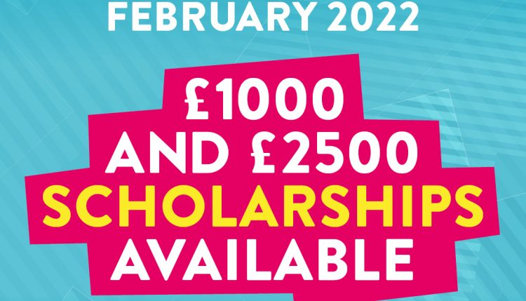 Masters courses starting January and February 2022 - £1000 and £2500 scholarships available