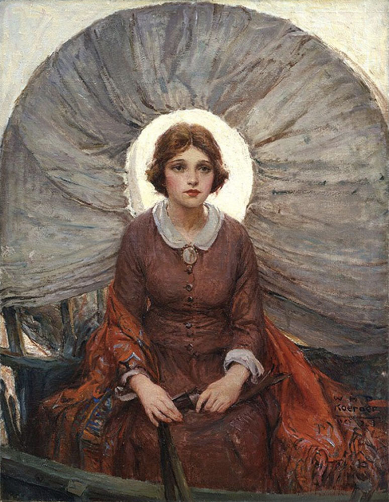 Madonna of the Prairie - 1920s painting by W.H.D Koerner