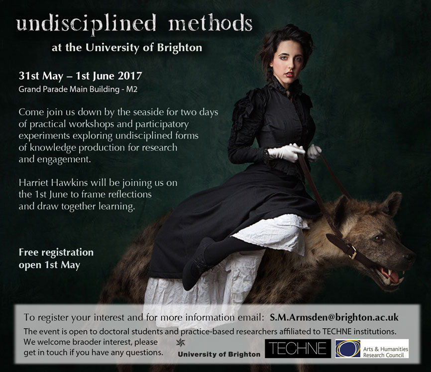 Unsciplined methods event poster