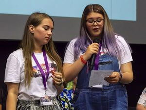 Photo of two young people speaking at the Big Resilience Get Together