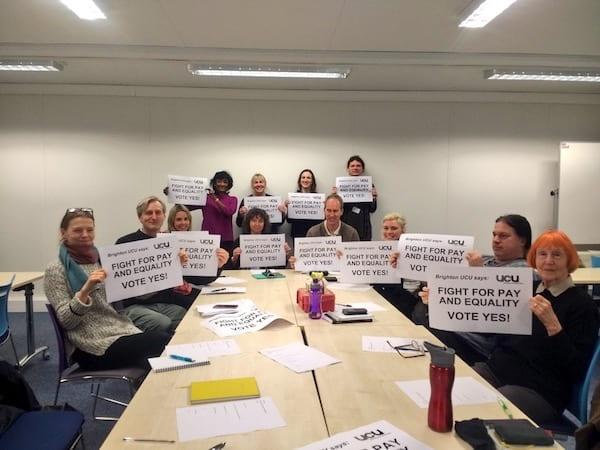 Pay and Equality solidarity at Falmer