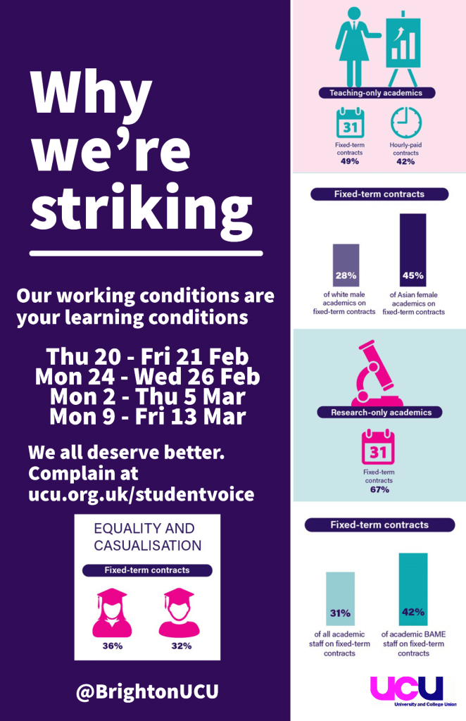 Infographic poster explaining key statistics for the industrial action. This repeats some of the statistics listed earlier in the email.