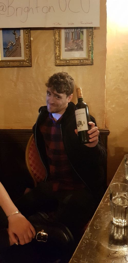 they won a bottle of wine