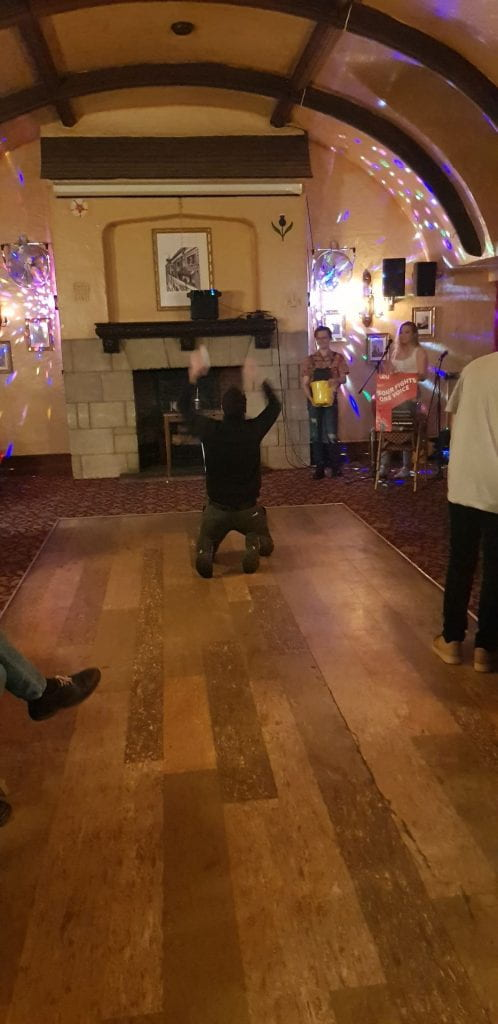 kneeslide celebration