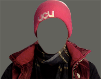Person picket line clothing - the face is cut out of the picture
