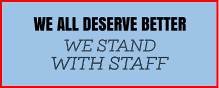 We all deserve better, we stand with IT staff sign