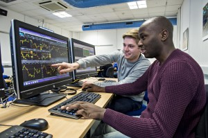 Brighton Business School's state of the art trading room