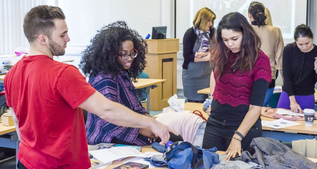 Charity Retail workshop involved a practical activity, sorting and pricing real charity donations