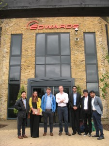 Students recently worked on supply chain consultancy projects for Edwards Vacuum