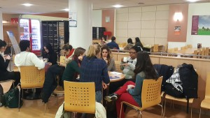 Students networking with IoD members