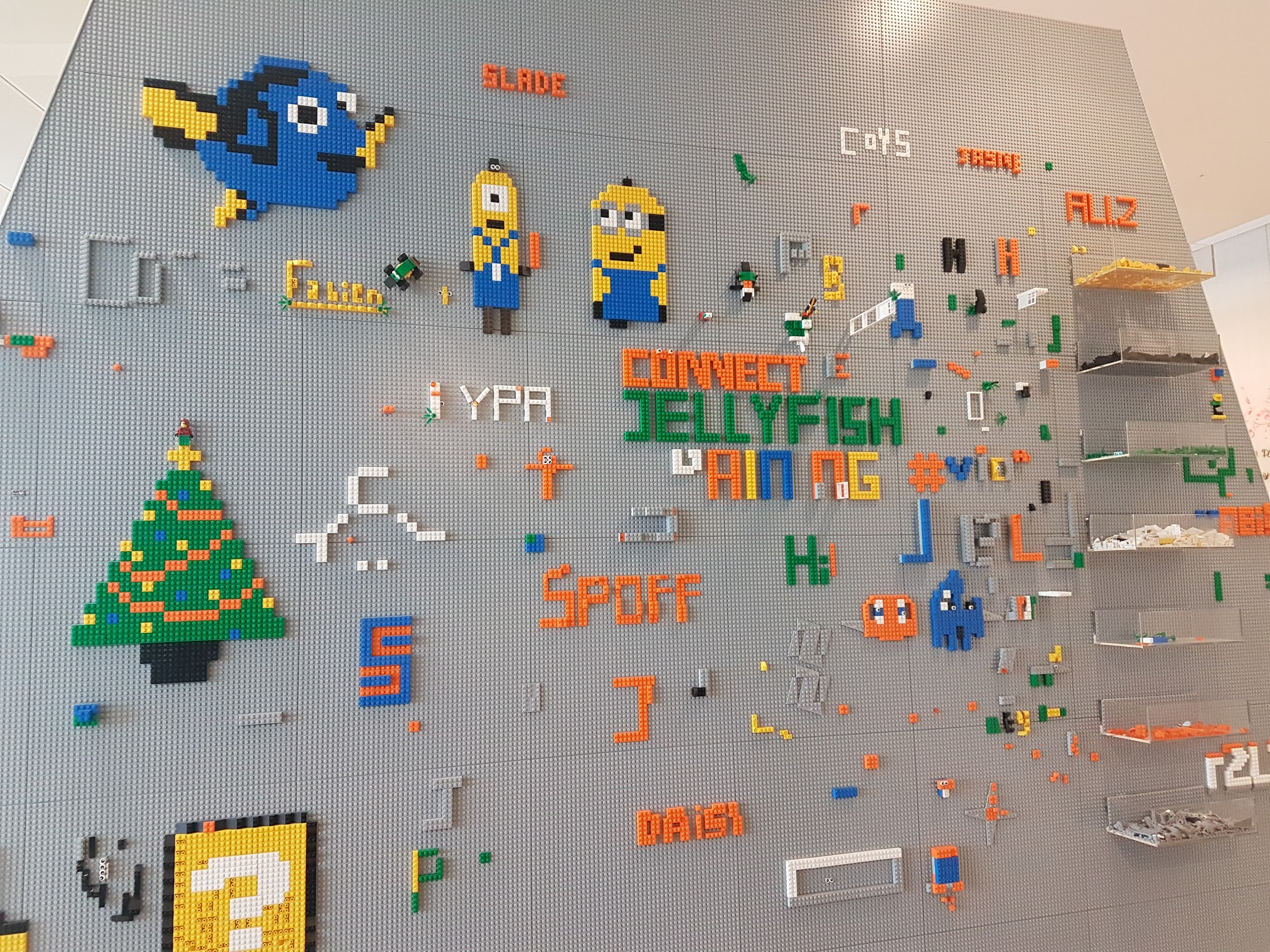 lego mood board from agency's offices