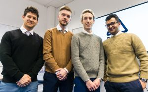 MSc Management Students presenting at Dragon's Den
