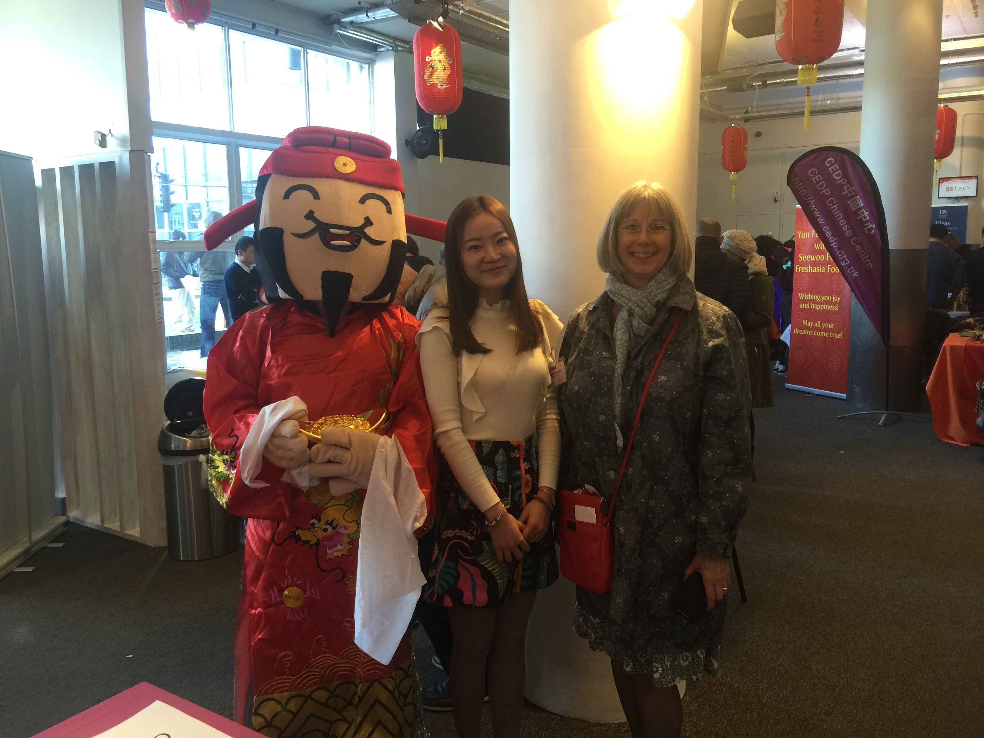 Image of student and lecturer at Chinese new year celebrations