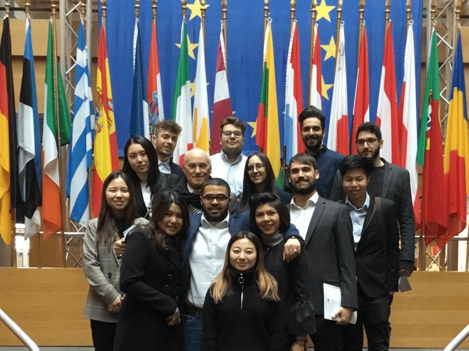 MSc Management students at European Parliament