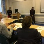 Business Management students enter the Dragon's Den