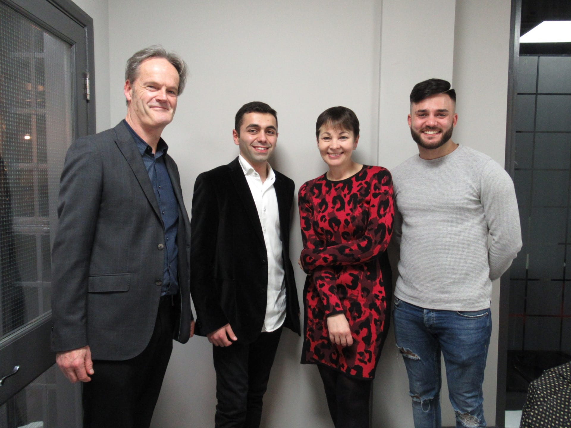 Business School students meet Caroline Lucas