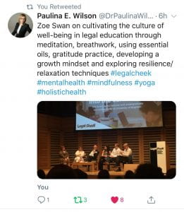 Zoe on the panel at Legal Cheek conference