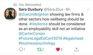 Support from colleagues following legal cheek conference