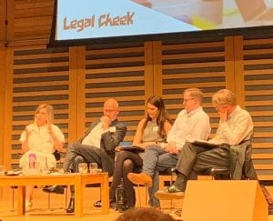 Zoe Swan on the panel at Legal Cheek conference
