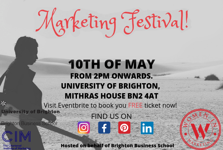 Marketing Festival 10 May at Brighton Business School