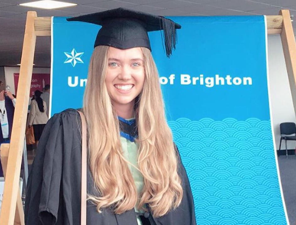 Student Katy Croft graduated with her degree and a CIM Level 6 award