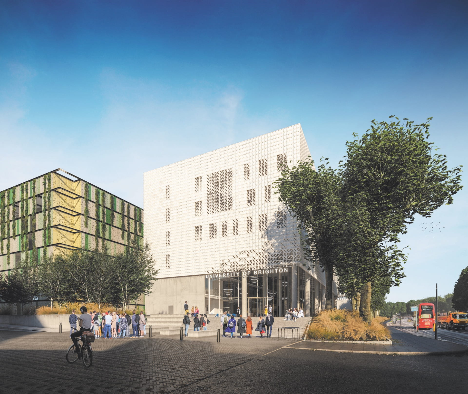 artists impression of new business school building