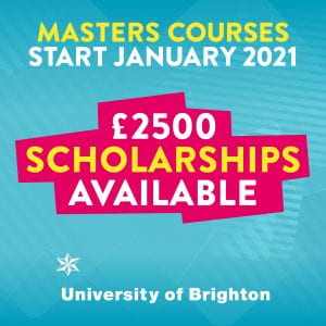 International scholarships available on Brighton Business School master degrees starting in January 2021