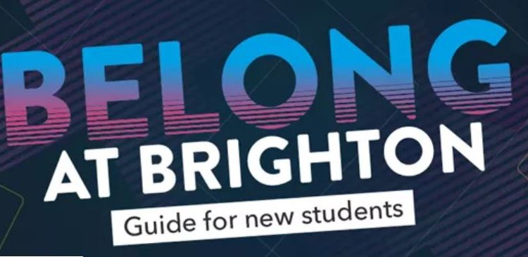 graphic saying belong at Brighton - guide for new students