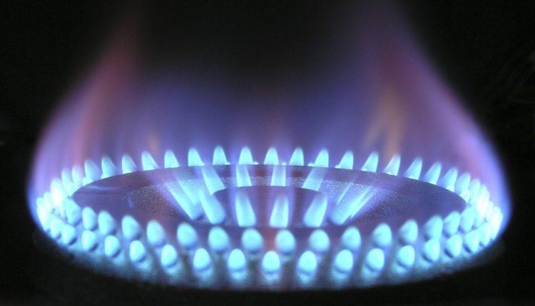 Lit gas ring