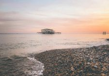 Sunset over the West Pier