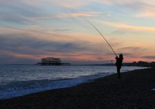 Catching the sunset at West Pier