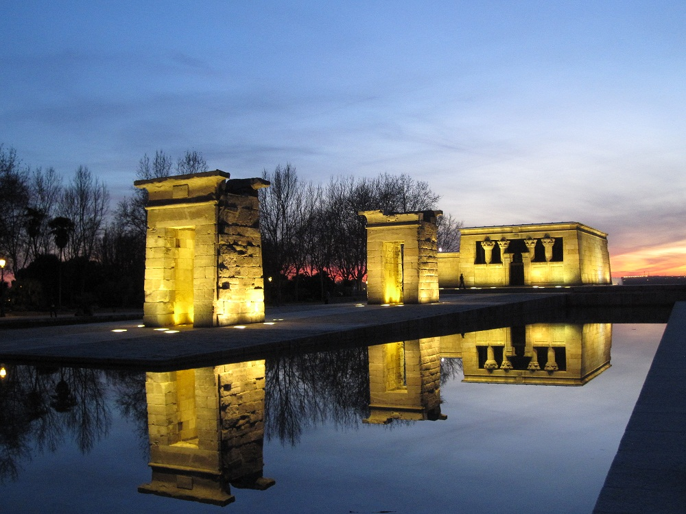Templo de Debod, Madrid. Photograph by Amy-Lou Bishop. 15 February 2013