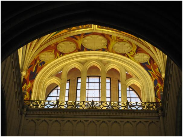 Fig 1. An interior arch in Almudena cathedral, Madrid. Amy Lou Bishop. 13 February 2013.