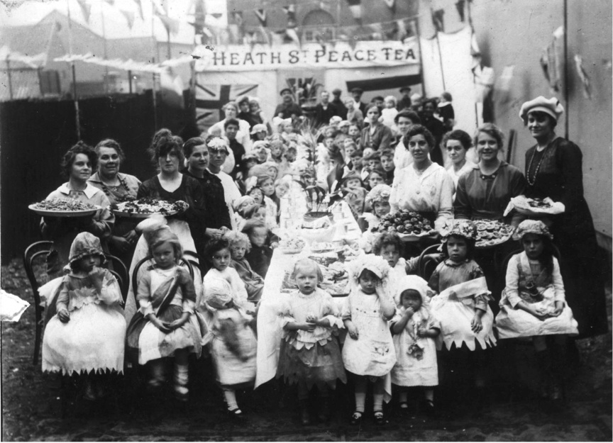 'Peace Tea Party' Barking and Dagenham, 1918,