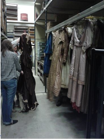 Clothing collection within Beamish archives. Personal photograph by the author. 26 Aug. 2014