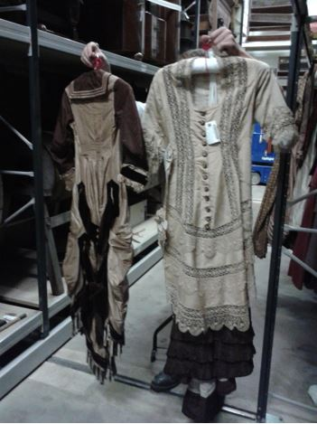 Example of two dresses cut from one, Beamish. Personal photograph by the author. 26 Aug. 2014