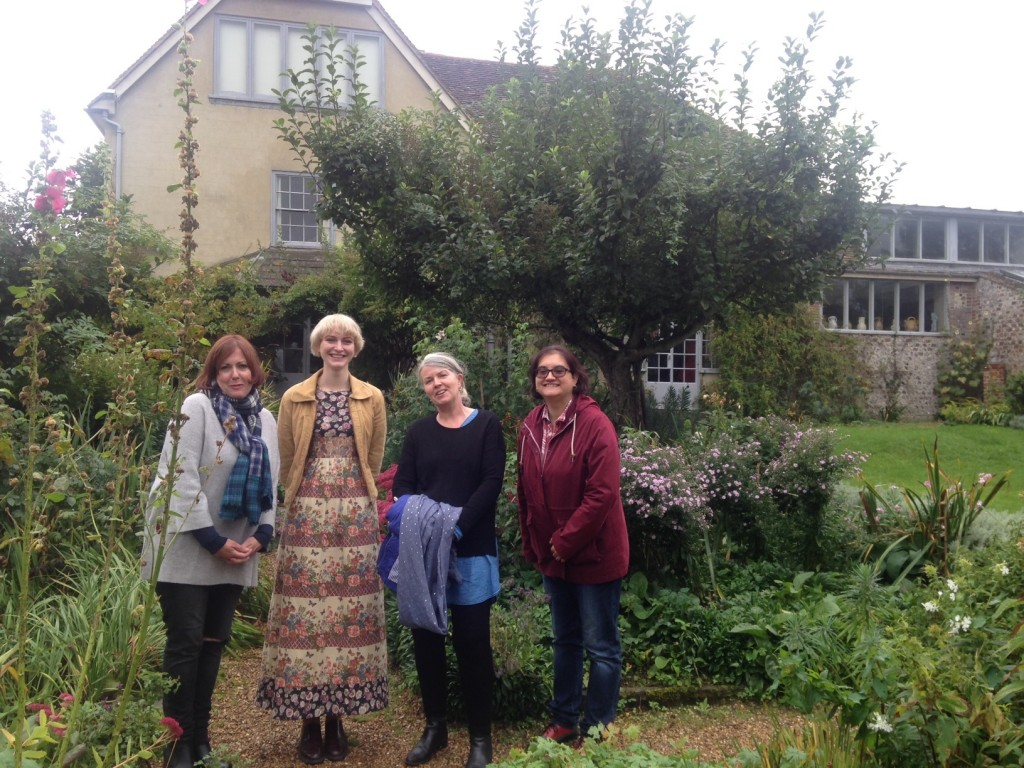 Photo of students and staff in the garden at Charleston