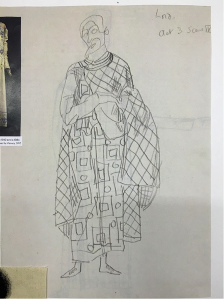 Macduff costume sketch by Duncan Grant c. 1910