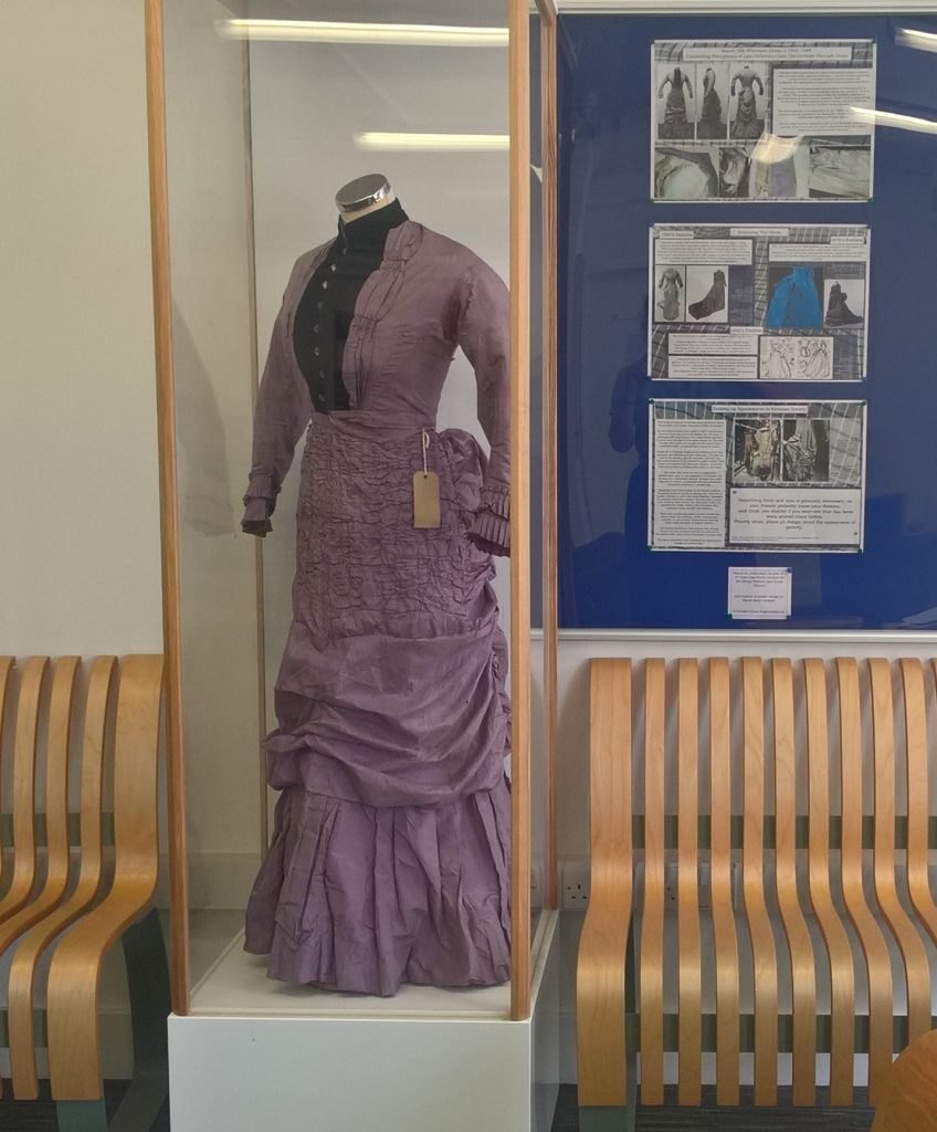 Dress on display in the Pavilion Parade Foyer. Photo by Sarah-Mary Geissler
