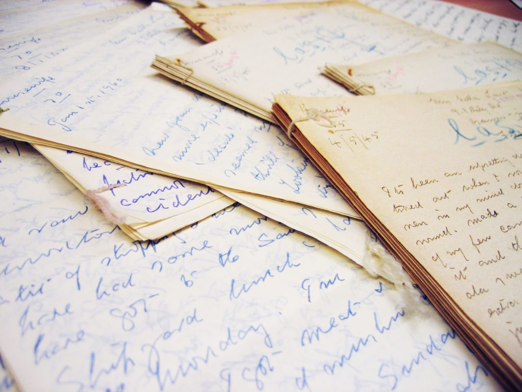Figure 2. Examples of additional personal papers (including diaries and letters) donated to the project. Image courtesy of Mass Observation.