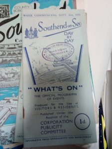 Image 2: 1930s guides to Southend from the archive, Southend Museum (image by author)