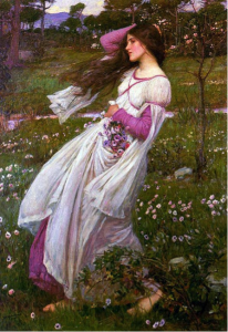 3. John William Waterhouse. Windswept, 1903. Oil on canvas. 114.3 x 78.7 cm.