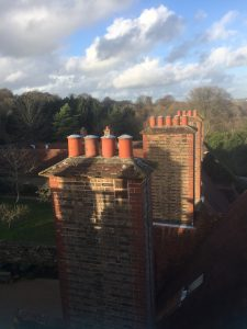 Fig 4. View over the chimneys, Standen House (image by author)