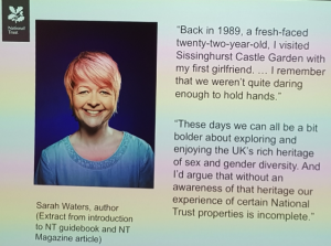 Fig 2. National Trust slide. Sarah Water, author extract from NT guidebook.