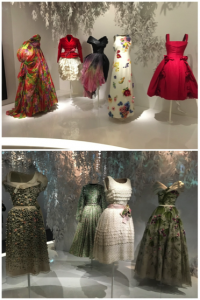 Fig. 2: The Garden Room at the Christian Dior Designer of Dreams Exhibition at the Musée des Arts Décoratifs. 30 Nov. 2017.
