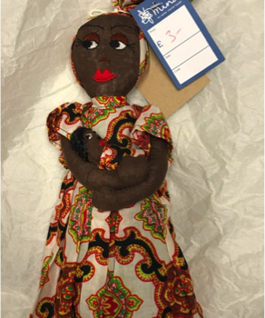 Figure 1 Front view Doll made in Kigali, Rwanda.