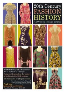 Fashion History lecture poster