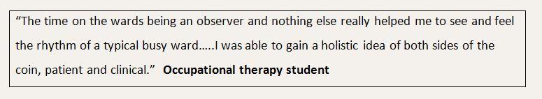 OT student quote